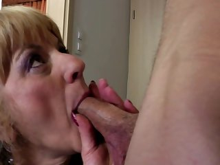 Granny kiss suck and fuck young lucky boy