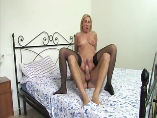 Italian mom seduces her son's friend